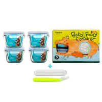 Glasslock 5P Baby Meal Square SET